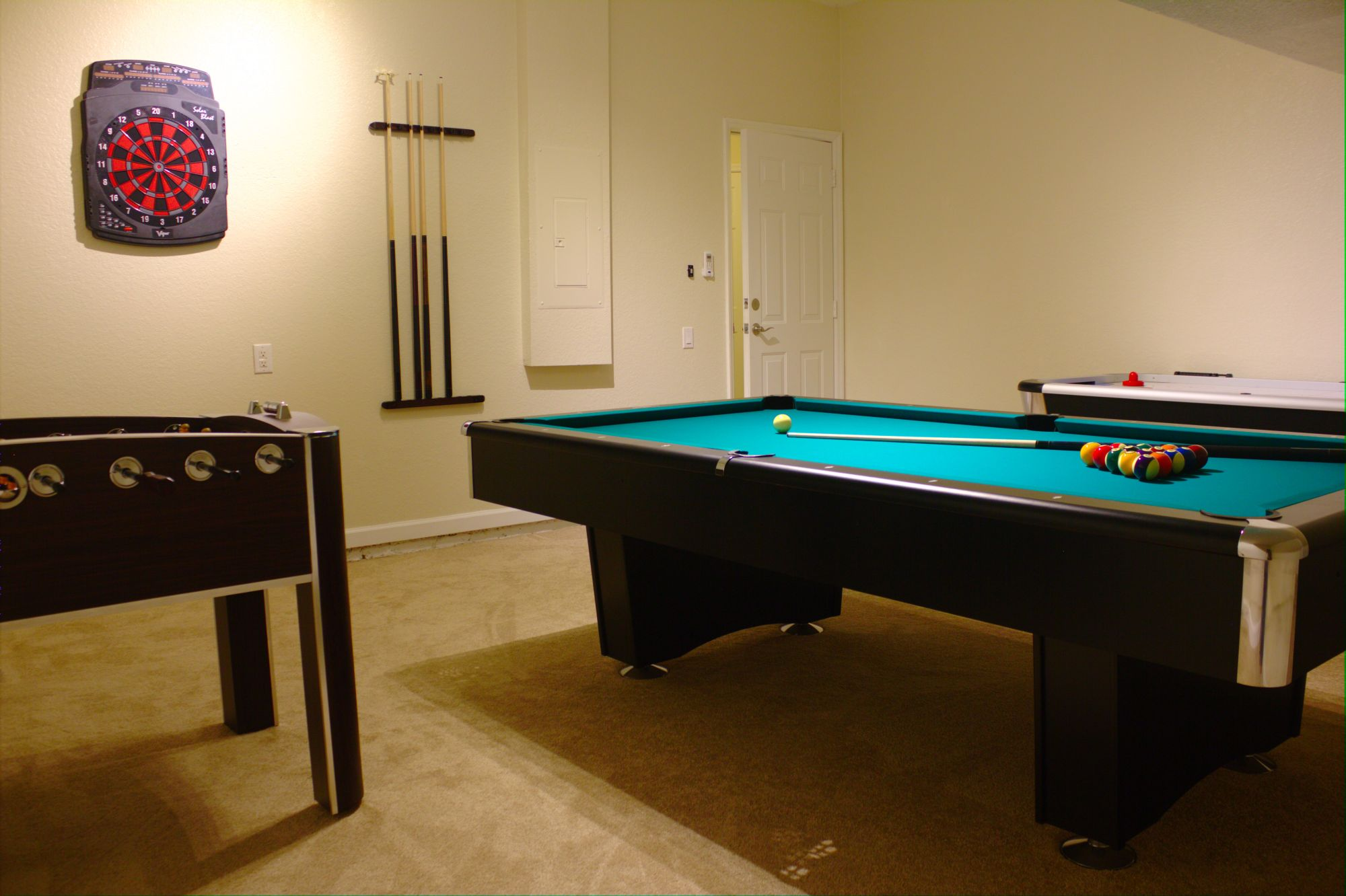 Our New Windsor Hills Game Room With Pool Table, Air Hockey and Foosball
