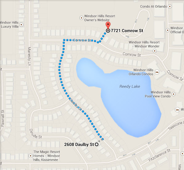 Directions From Villa By The Castle To The Windsor Hills Putting Green