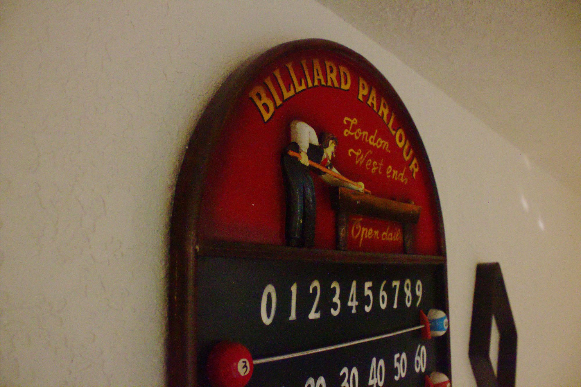 The Billiards Score Board