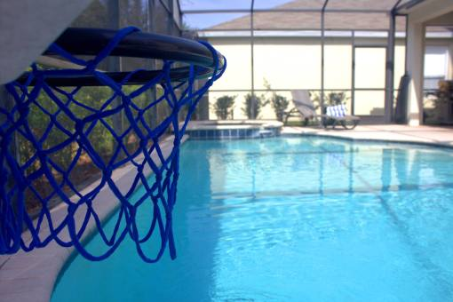 Private Saline Pool Spa With Pool Side Basketball Hoop - 6 Bedroom Luxury Kissimmee Vacation Rental By Owner